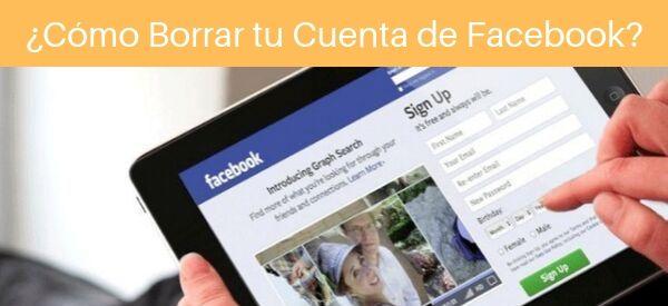 como borrar tu cuenta de facebook